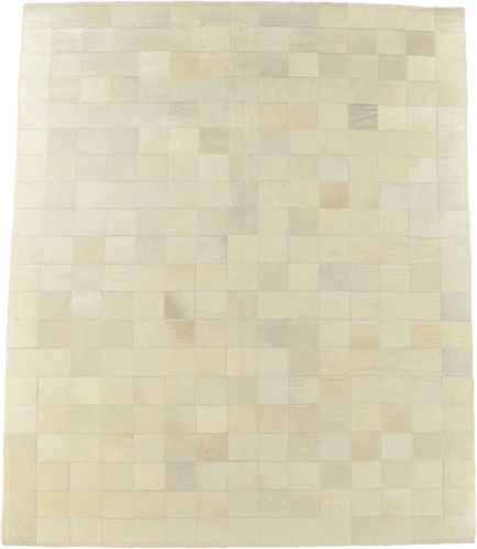 KUHFELL TEPPICH CREME WEISS 200 x 150 cm
