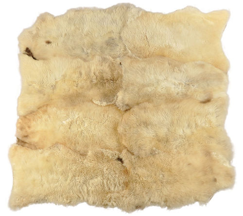 Eco lambskin rug natural white  210 x 200 cm