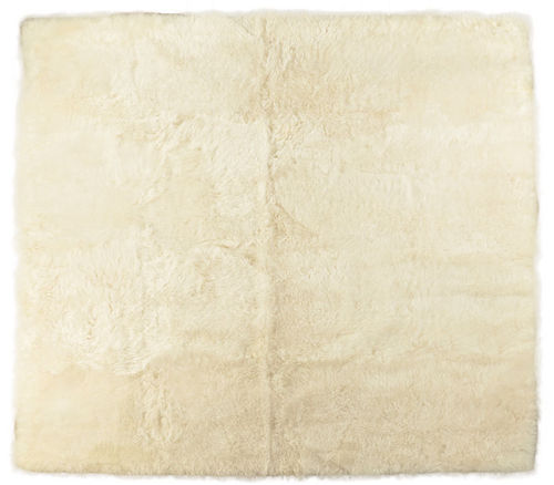 Eco lambskin rug natural white 205 x 200 cm