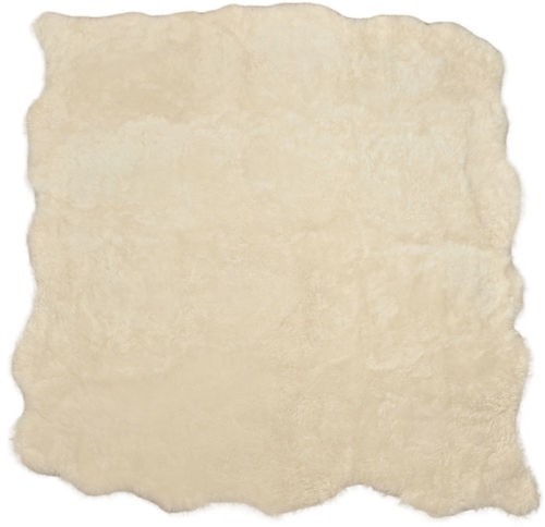 Eco lambskin rug natural white 230 x 205 cm