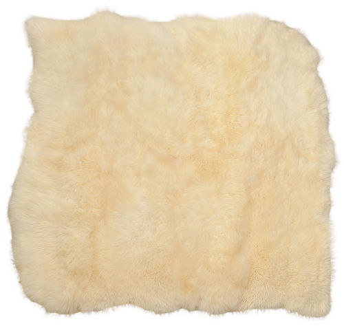british Lambskin rug natural white 220 x 210 cm