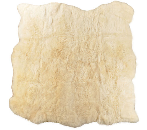 Eco lambskin rug natural white 210 x 210 cm