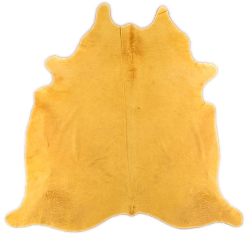DYED COWHIDE RUG YELLOW 220 x 200 cm