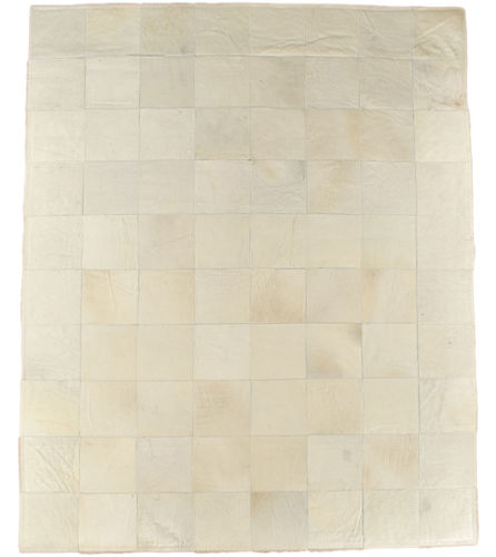EXKLUSIVER KUHFELL TEPPICH CREME WEISS NATUR 160 x 200 cm