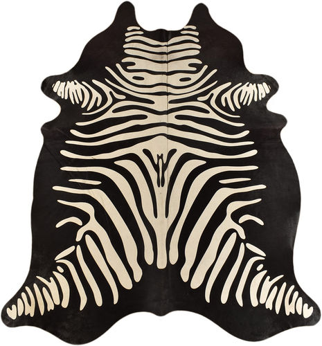 COWHIDE with zebra negative print  220 x 170 cm