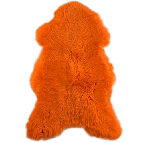 swedish eco lambskin orange 110 x 70 cm