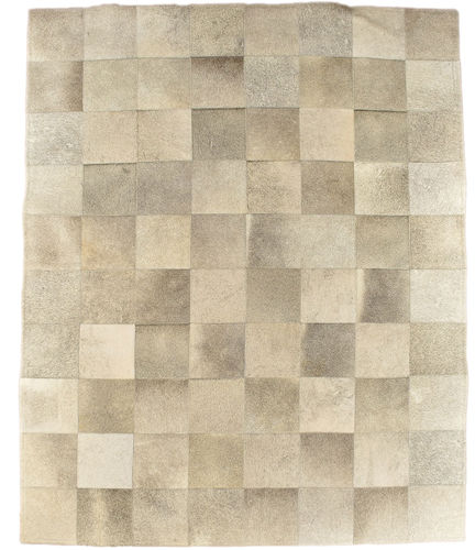 COWHIDE CARPET RUG NATURAL GREY 200 x 160 cm
