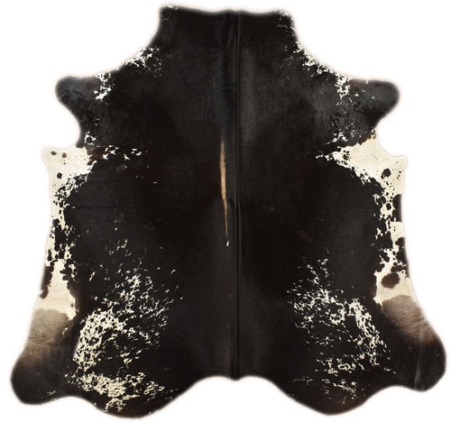 cowhide black and white 220 x 200 cm