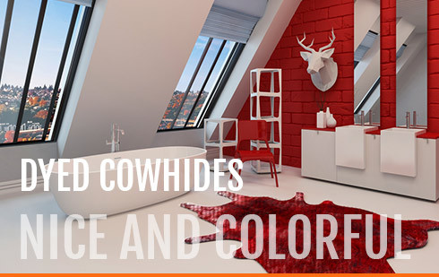dyed-cowhides